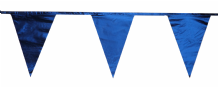 Metallic Navy BlueTraditional 12m 28 Flag Polyester Triangle Flag Bunting